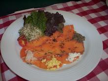 Carpaccio de salmón