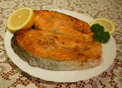 yin 39 s homemade oven baked salmon. Black Bedroom Furniture Sets. Home Design Ideas
