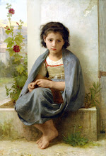 Little KNitter by Bouguereau