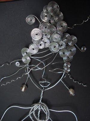 sophieduclercq personnage d coratif en fil de fer galvanis. Black Bedroom Furniture Sets. Home Design Ideas