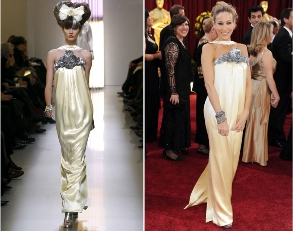 Red carpet wedding dress inspiration merci new york blog for Sarah jessica parker wedding dress