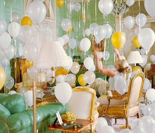 bridal shower balloon decor registry