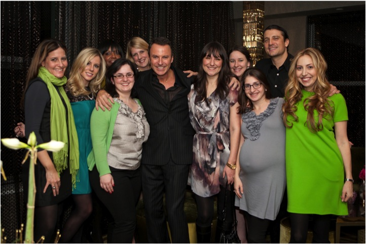 the b-list bloggers and guests enjoy colin cowie's holiday party