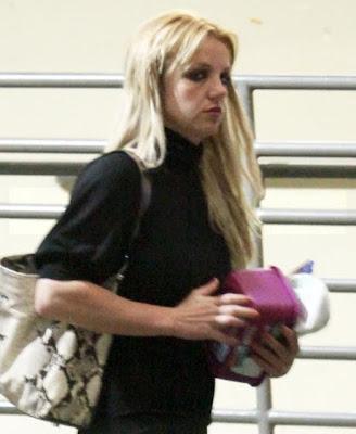 Britney Spears in black dress out in Sherman Oaks