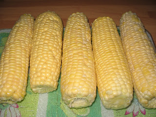 sweetcorn on the cob