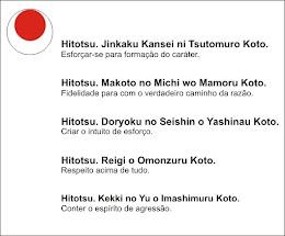 DOJO KUN - As 5 máxima do Karate-Do