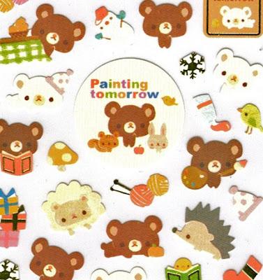 Adorable Japanese Kawaii stickers - Painting Tomorrow Friends