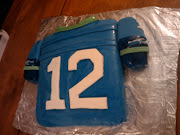 Seahawks Jersey Cake for Jimmy's 1/11/11 Birthday