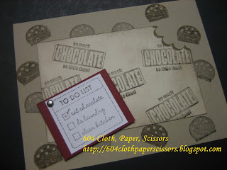 Eat Chocolate card by Ida Chan, Stampin' Up! demonstrator Vancouver