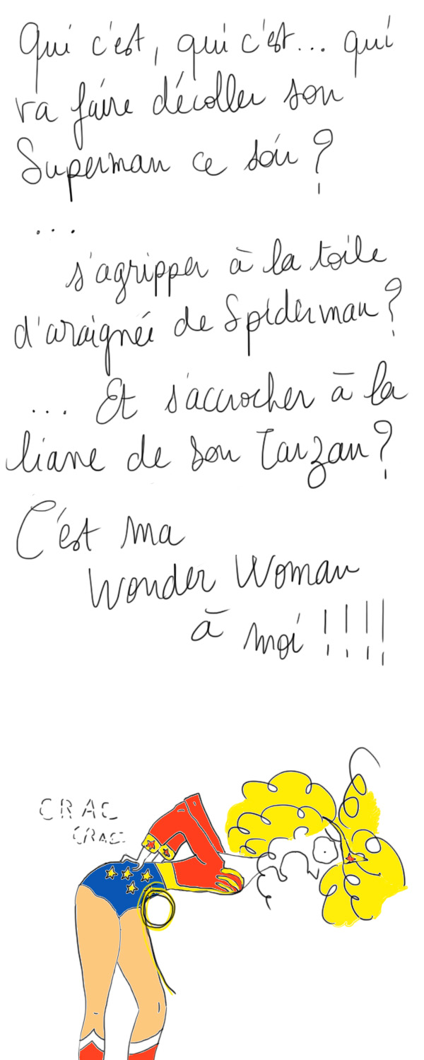 wonder woman, super héro, couple amour
