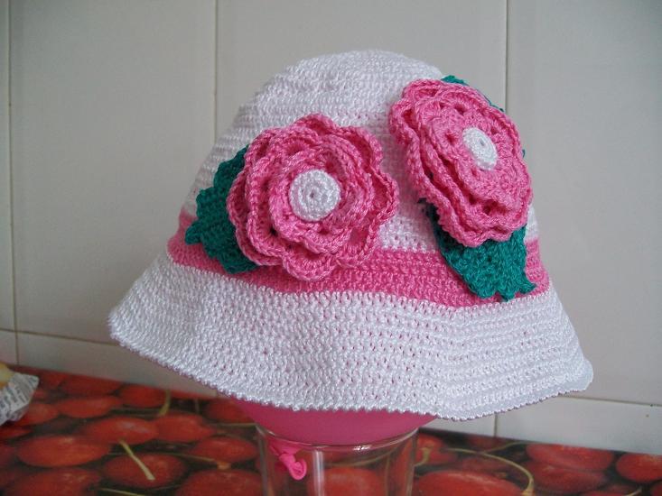 Gorros crochet para niñitas - Imagui