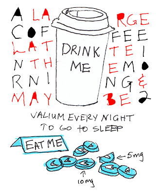 little sin, guilty pleasure, coffee, valium, addiction, drugs, secret
