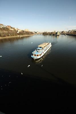 Prague - sunny day, Vltava river