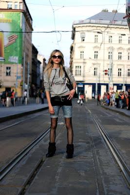 Prague - girl on the street