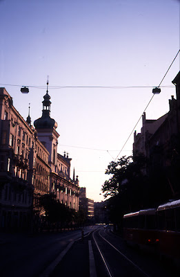 Prague sunset we dont see in Prague lately