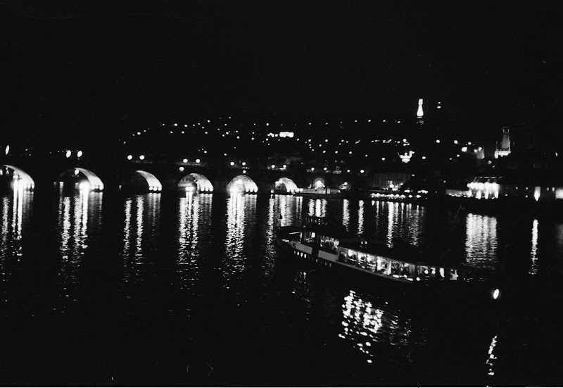 Prague - Charles bridge and Vltava at night
