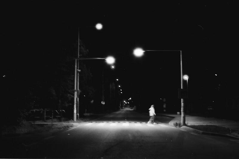 Prague - Midnight lonely crossing