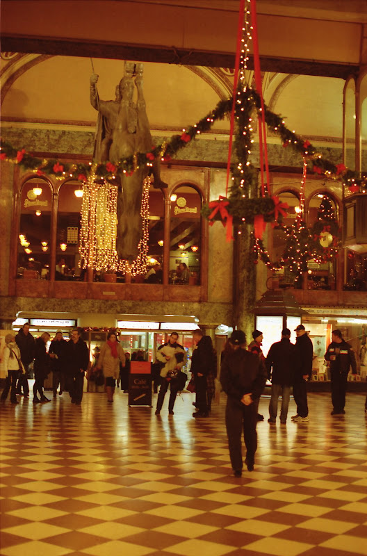 Christmas decoration at Lucerna passage in Prague downtown