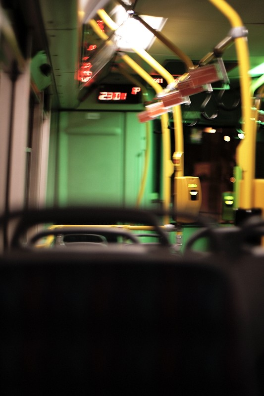 In bus at 23:01, Prague