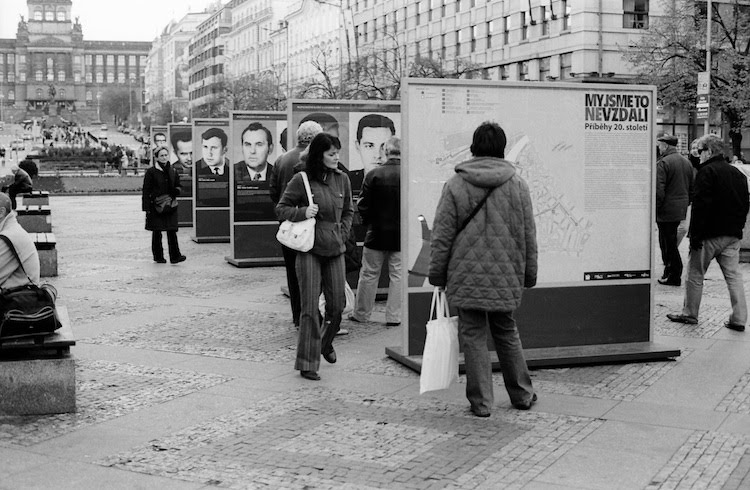 Exhibition at Wenceslas square, Prague - 20 years from Velvet Revolution