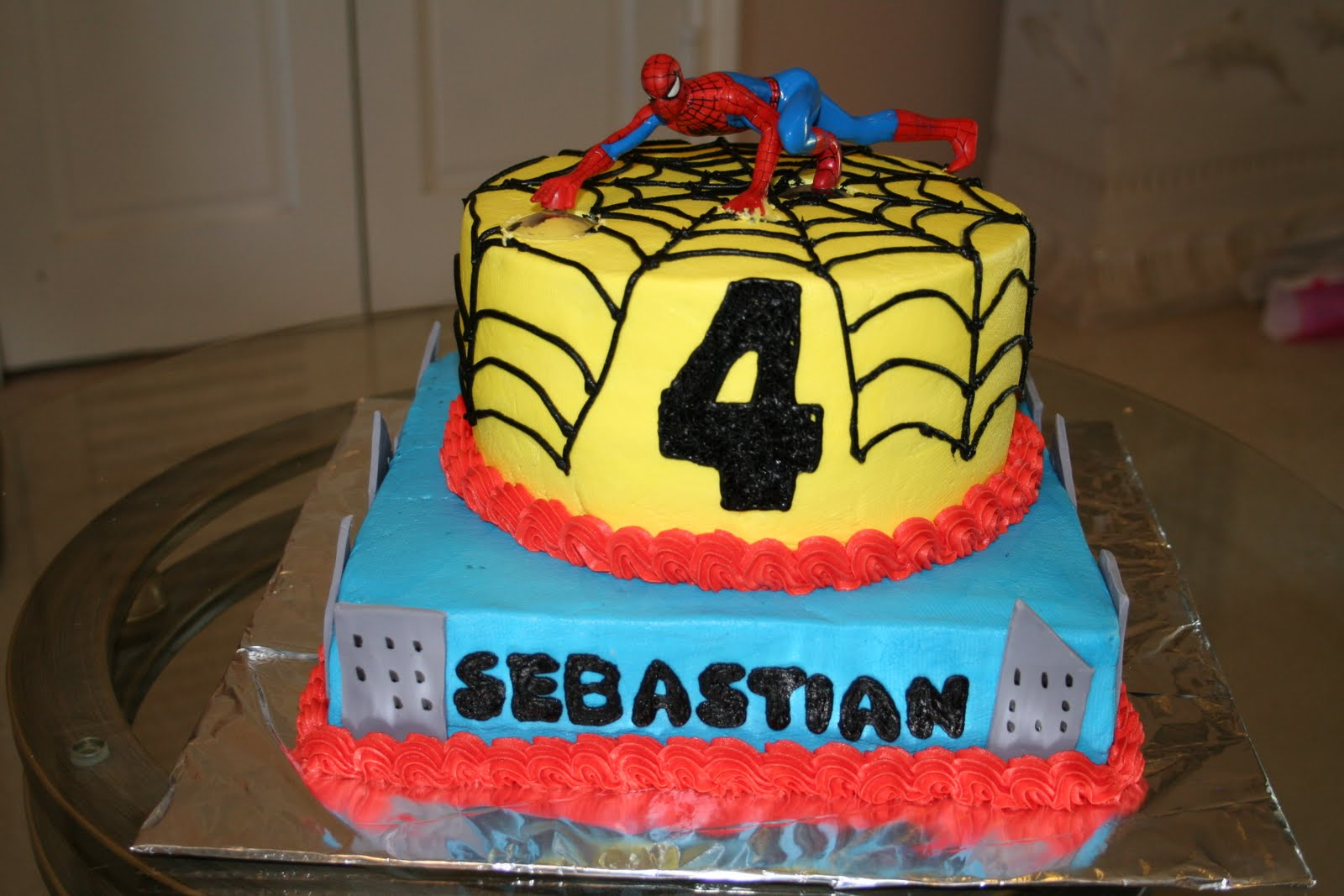 spiderman cake pics