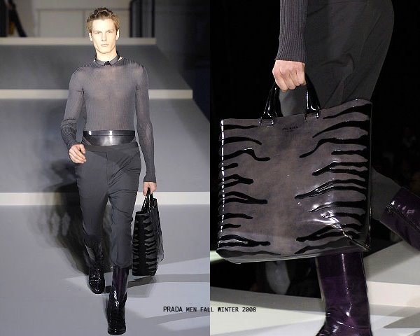 replica prada cosmetic bags - What\u0026#39;s he wearing?: prada men\u0026#39;s autumn winter 2008 patent leather ...