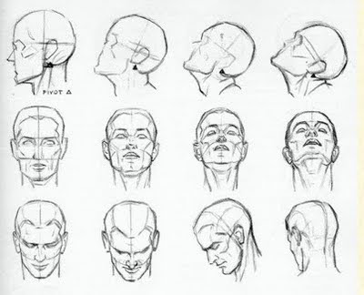 how to draw a person with their head down