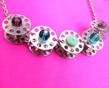 .:: I Love Sewing Bobbin Necklace ::.