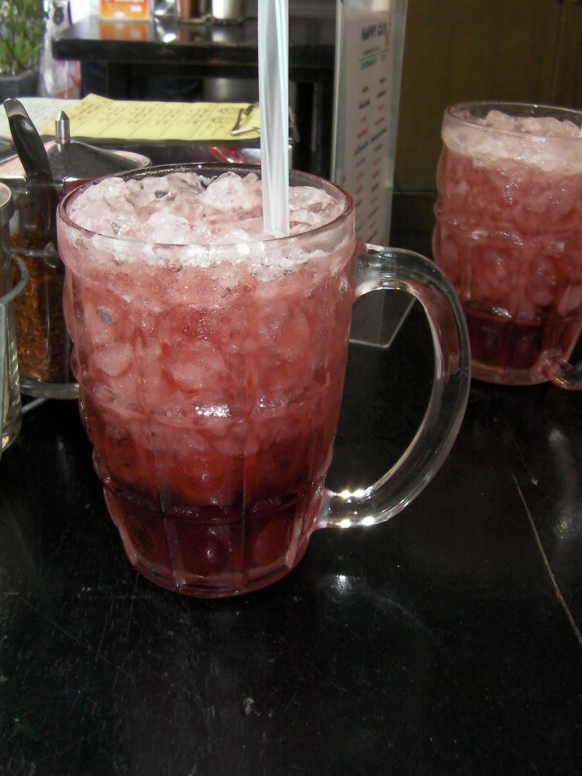 Dick in fizzy drink