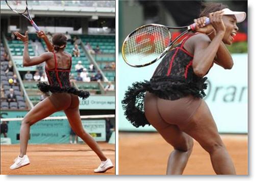 Venus Williams Tennis Outfit Malfunction