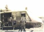 Phi công Phạm Thông và trực thăng C&C của Thiếu tướng Lê Minh Đảo