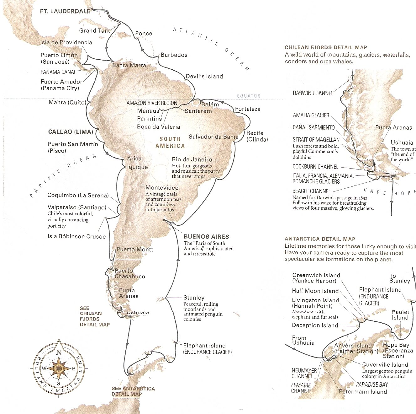 A Grand Voyage Of South America The Amazon River  Antarctica - Map of south america amazon river