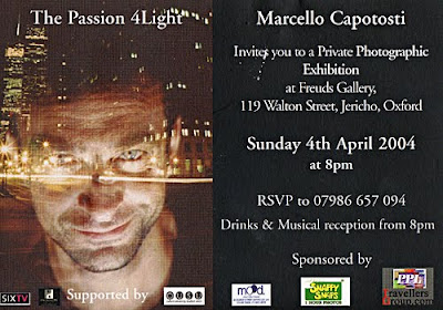 Marcello Capotosti - Invitation to Exhibition