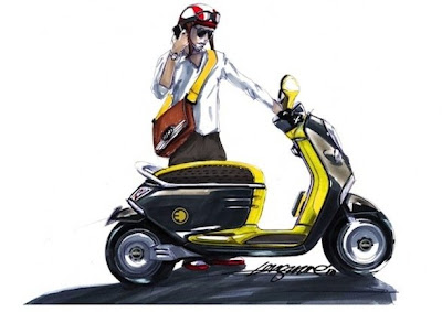 Mini E Concept Scooter