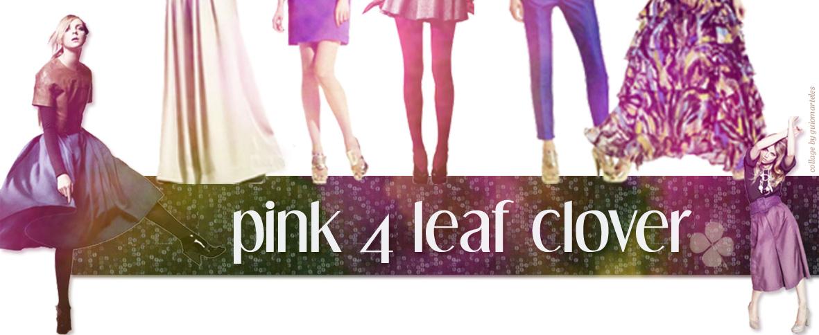 Pink 4 Leaf Clover