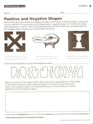 harvest artists blog 6th grade negative space homework. Black Bedroom Furniture Sets. Home Design Ideas