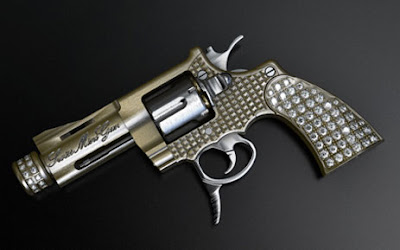 World's Smallest Gun Now In Gold and Diamonds