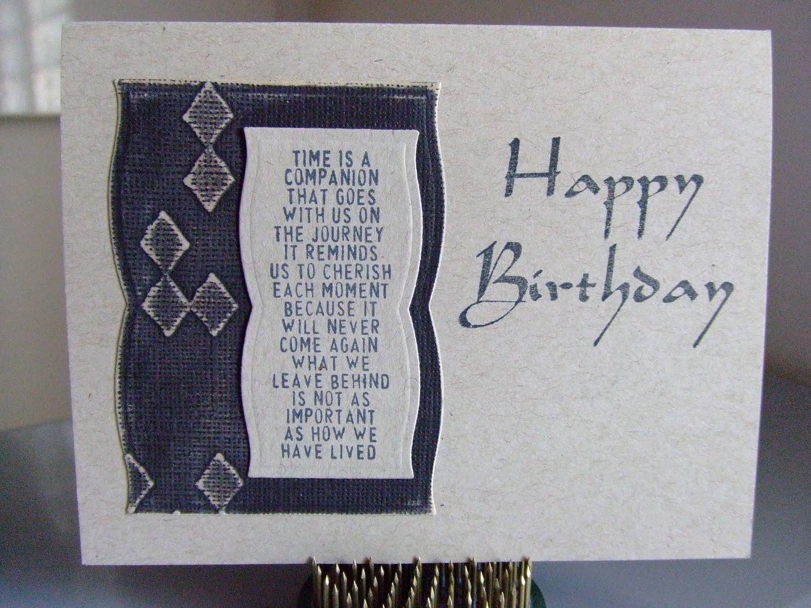 Male Birthday Cards Funny ~ Maricopastamper tim holtz the journey male birthday card