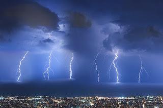 Lightning in Beirut, Lebanon