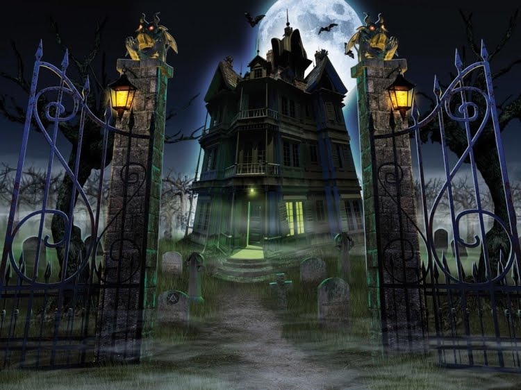 Halloween haunted house halloween decorations ideas for Good themes for a haunted house