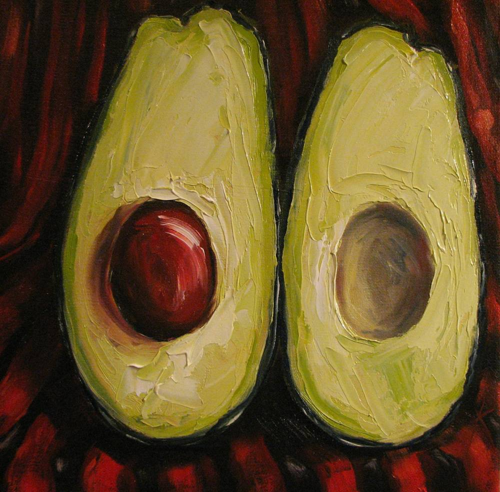 Kim Blair: Still Life of Avocado, Avocado for Matisse, by ...