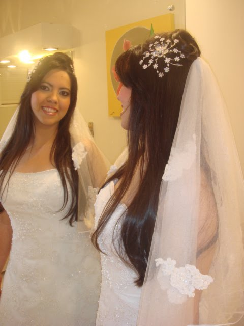 casamento veus para noiva   cabelo solto