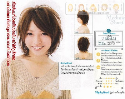 Japanese asian women hair styles. Spiral Perm Hairstyles loose perm short
