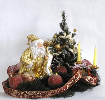 El rinc n de sonia decoraci n centros de mesa navide os for Centros navidenos