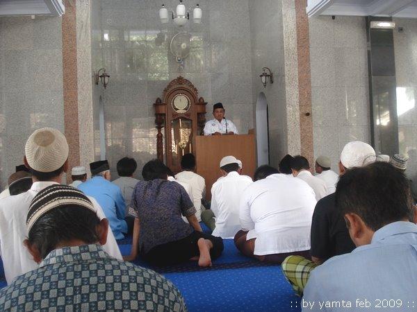 Kegiatan Shalat Jum'at 13 Februari 2009