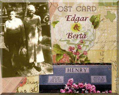 Tombstone of Edgar & Berta Mary (Sharp) Henry