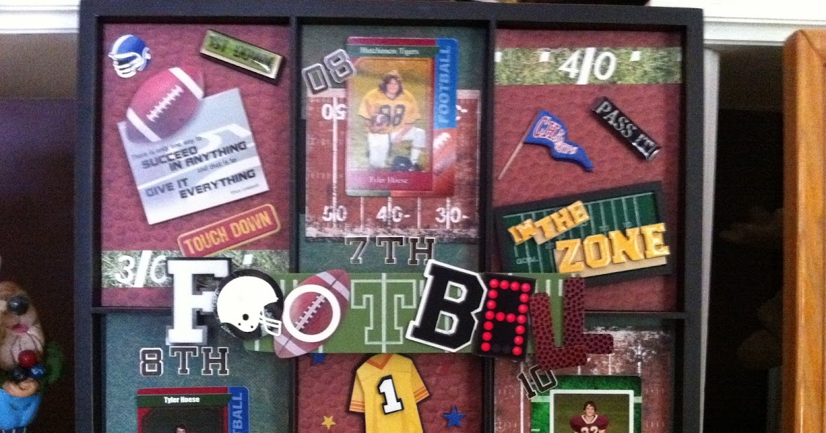 One girl ideas son 39 s football trading card display for K decorations trading