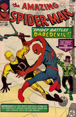 Amazing Spider-Man #16, Spidey vs Daredevil and the Circus of Crime, first ever meeting