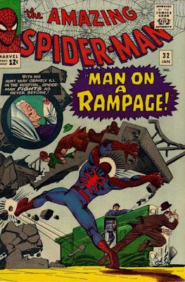 Amazing Spider-Man #32, dr octopus master planner, steve ditko cover