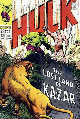 Incredible Hulk #109, Ka-Zar and Zabu in the Savage Land